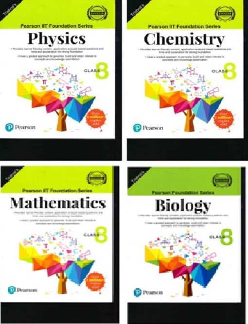 IIT Foundation Physics, Chemistry, Maths & Biology For Class 8 Combo