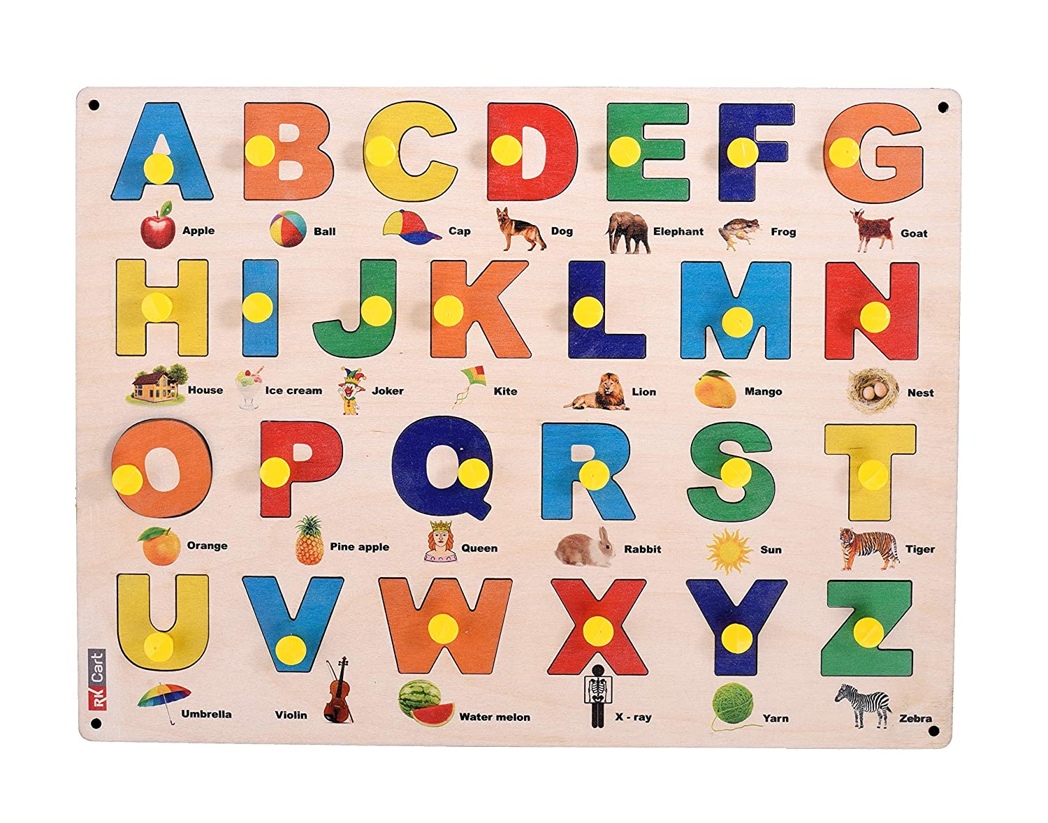 RK Cart Capital Letters ABCD English Alphabets Wooden ...