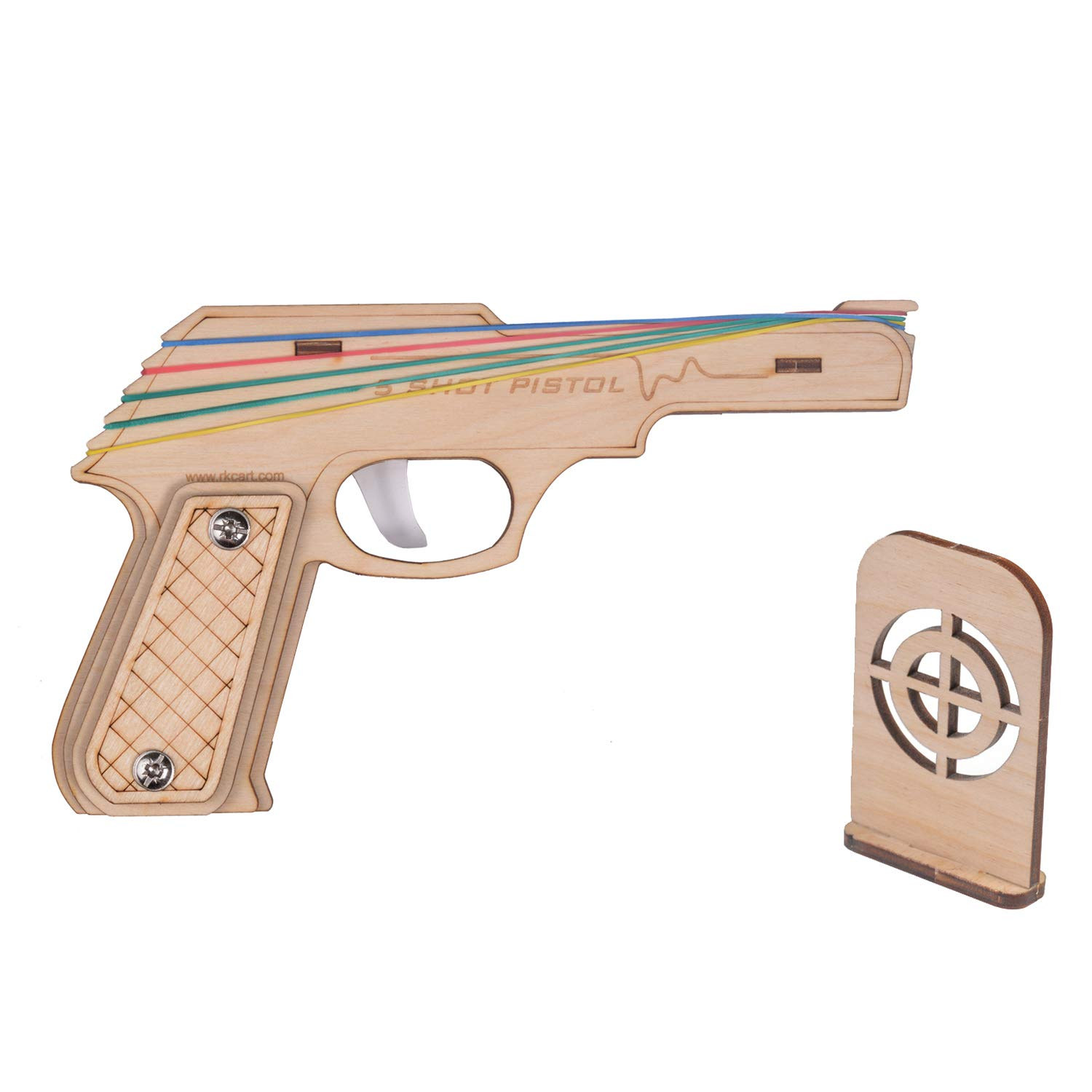 RK Cart Simple Semi-Automatic Wooden Rubber Band Shooting ...