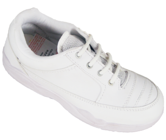 Synthetic School Shoes Lace (White